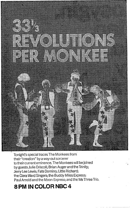 33 1/3 REVOLUTIONS PER MONKEE (NBC, 4/14/69)