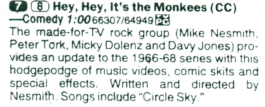 HEY HEY IT'S THE MONKEES (ABC, 2/17/97)